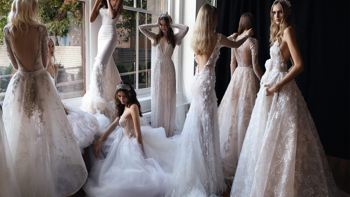 So much to choose from. Dresses from the 2017 Inbal Dror catalog