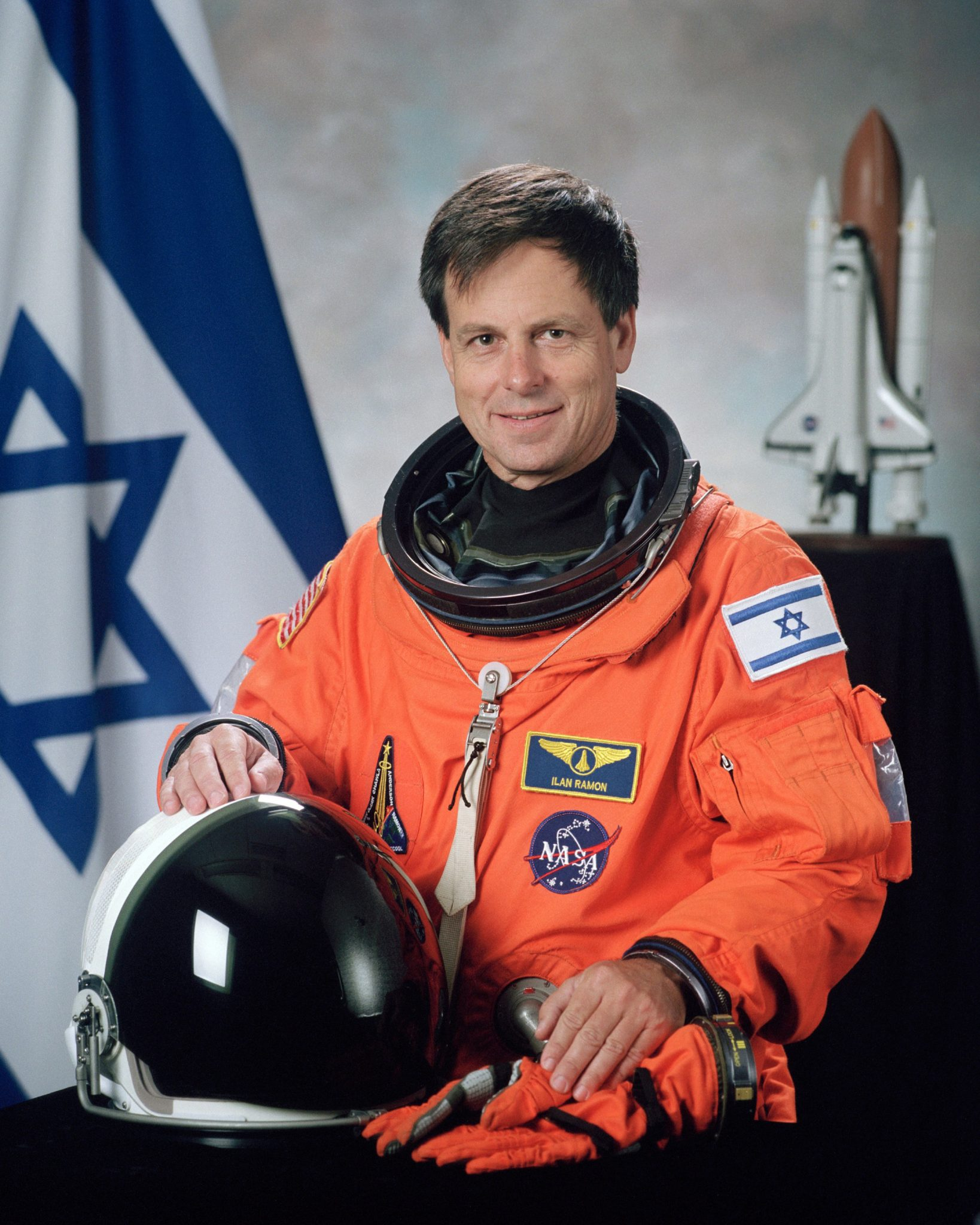 Ilan Ramon the Israeli astronaut killed during the failed re-entry of the Space Shuttle Columbia