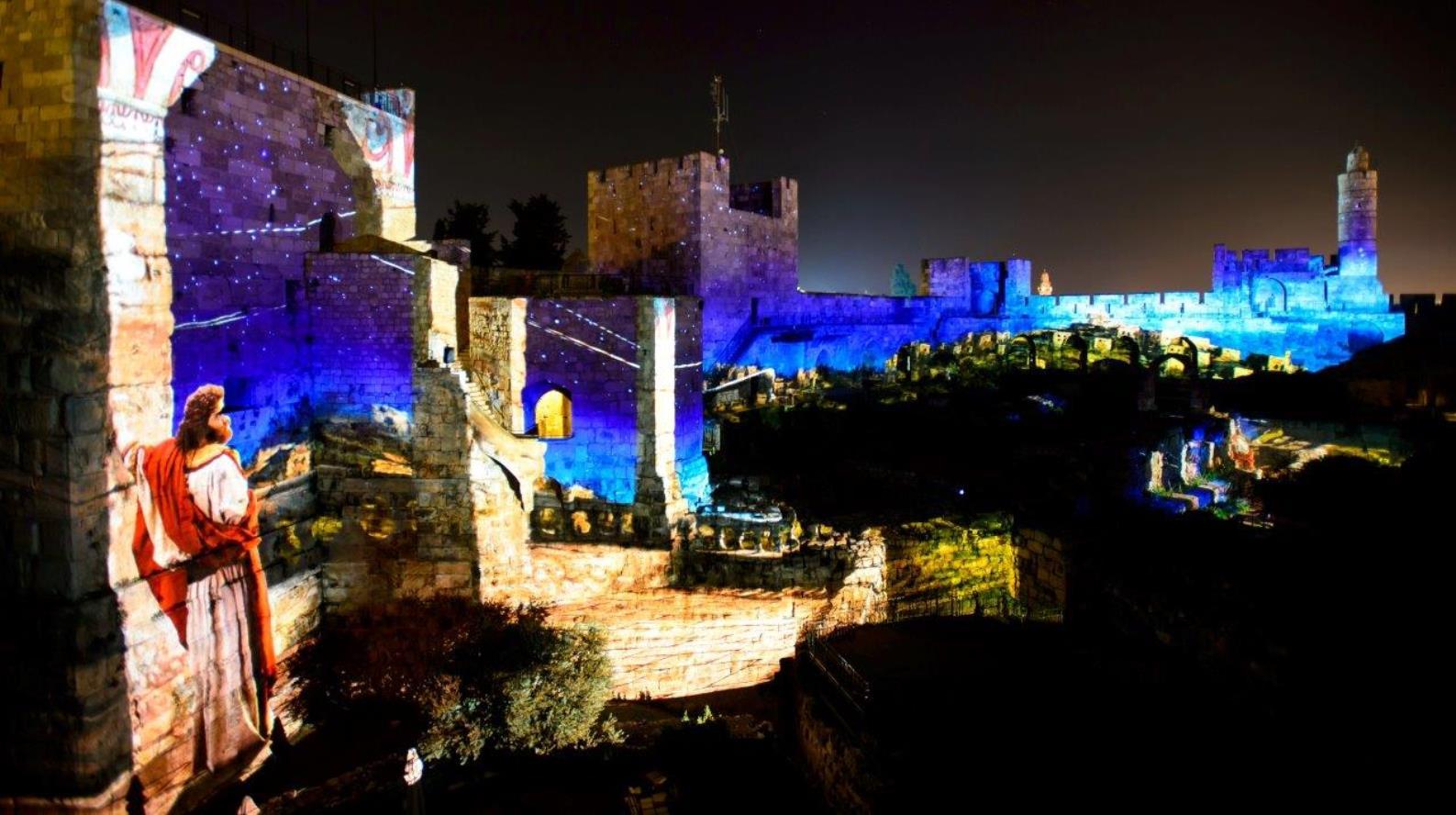 Dazzling Light Show Brings King David Alive In Jerusalem