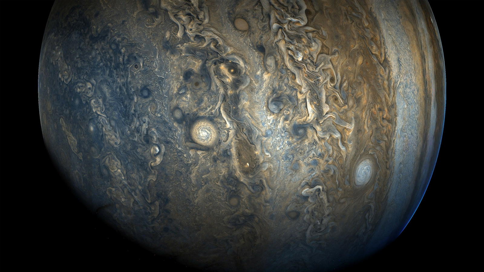 Jupiter's cloud belts are greater than previously thought. Credit NASA  JPL-Caltech  SwRI  MSSS  Kevin M. Gill