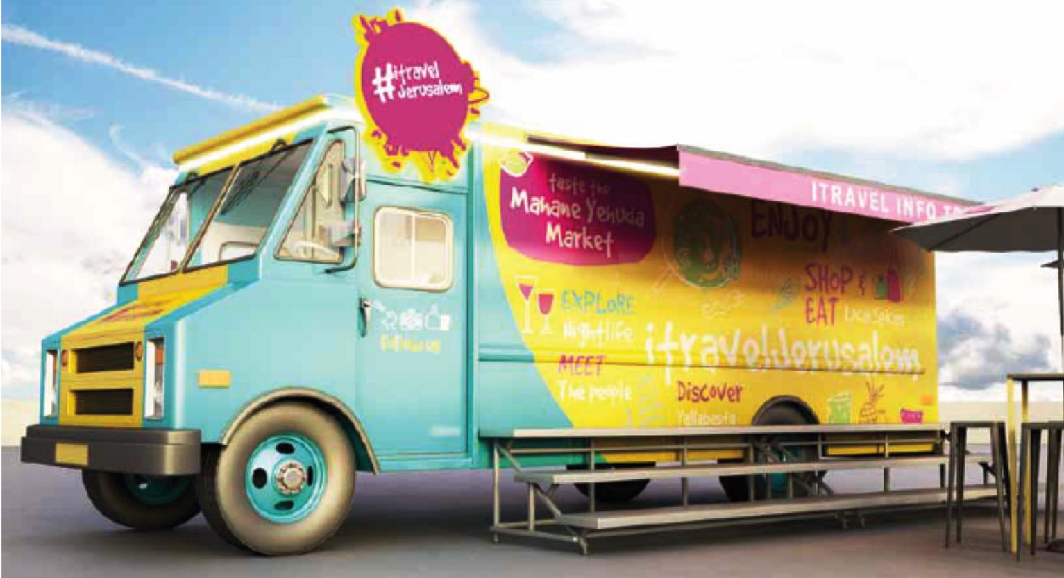 Info trucks, free transport welcome tourists to Jerusalem | ISRAEL21c