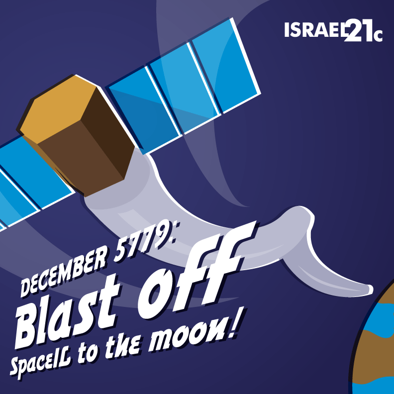 December 5779: Blast off SpaceIL to the moon!