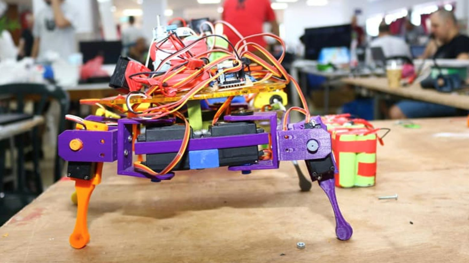 A musical spider bot was one of the inventions made at Geekcon 2018. Photo by Ilan Levy