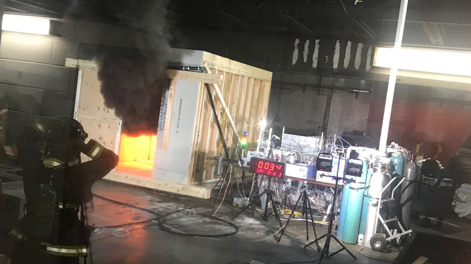 Sicherheitszonen für Gebäudebrände