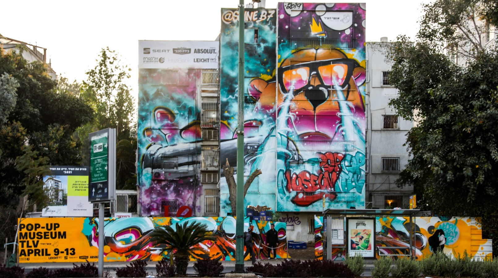 Street artists turn tel aviv building into graffiti paradise