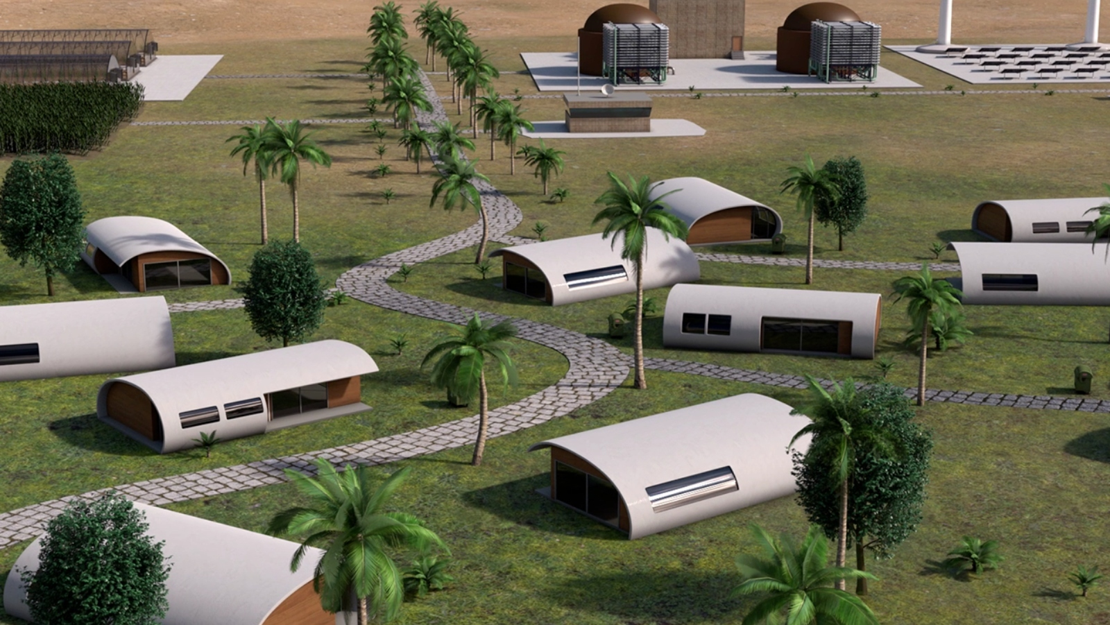 Das Öko-Dorf in der Wüste