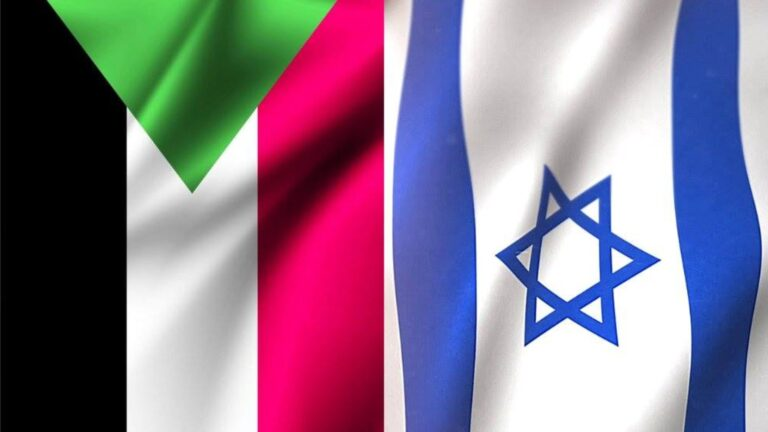 The Sudanese and Israeli flags