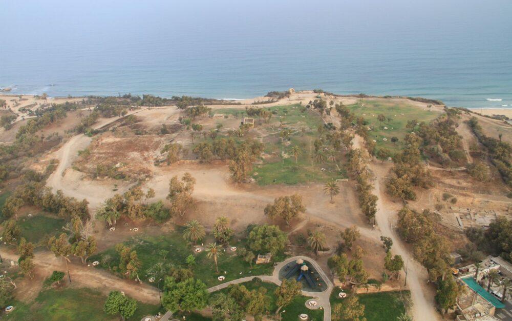 La ubicación del cementerio de perros en Ashkelon. Foto cortesía de la expedición Leon Levy a Ashkelon