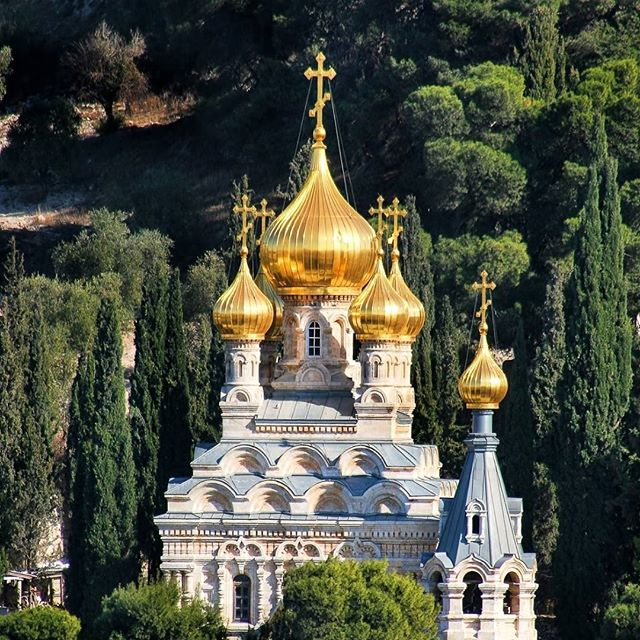 Church of Mary Magdalene located on Mount of Olives in Jerusalem, Israel. #Israel #MaryMagdelene