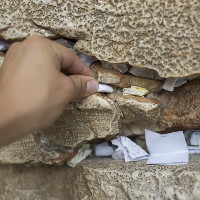 Have you put a note in the #WesternWall ? #Jerusalem #ISRAEL21c.  by #Flash90