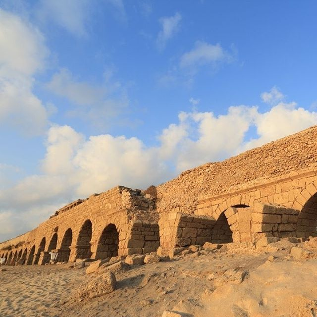 Just one of the hundreds of ruins that line the beaches of #Caesarea .