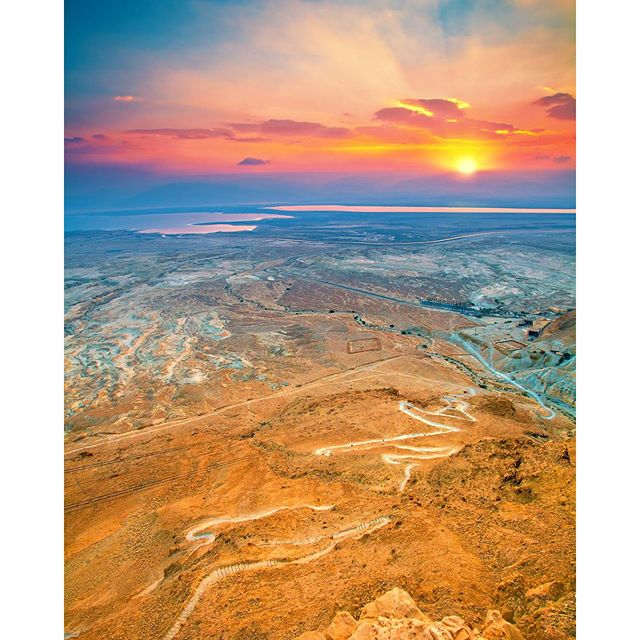 Another sweet year, another beautiful sunrise over Israel. #Israel #RoshHashana #Masada