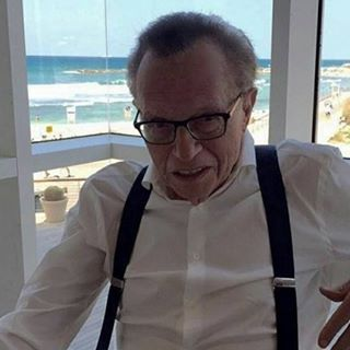 """Is there anything better than lunch by the water? — in Tel Aviv, Israel"" -  Larry King, during his most recent visit to Israel."
