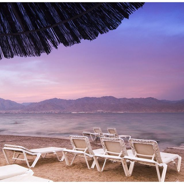 Sunset on the beach in Eilat. Does it get any better than this? #Eilat #Sunset #Israel #AlwaysSummer