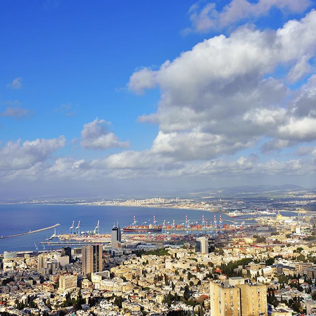 The Haifa Sky Line...nothing like it. #Haifa #Israel