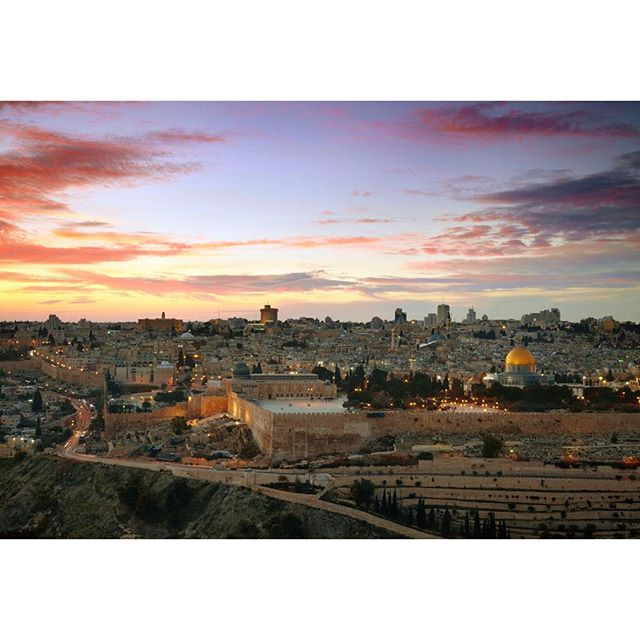 Two words: Jerusalem Sunset. #Jerusalem #sunset #Israel