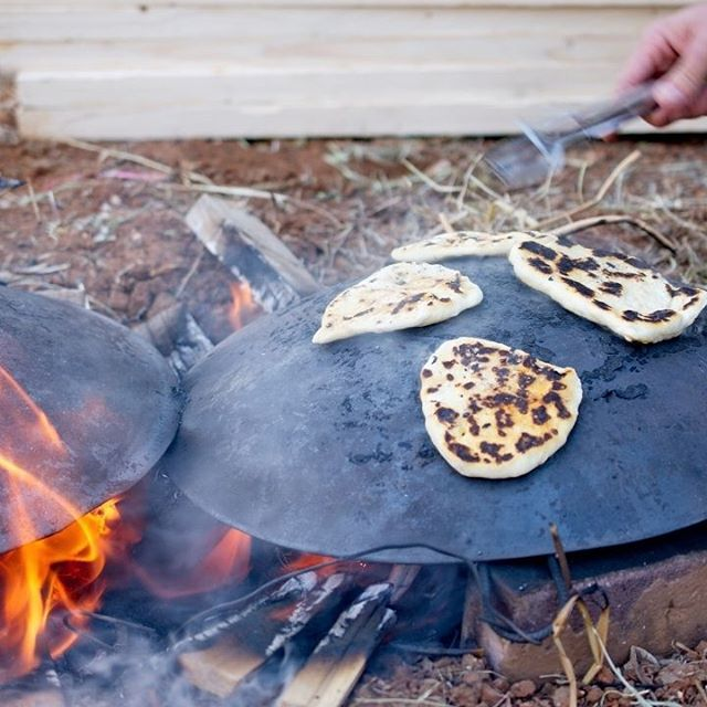 #TBT Pita cooking on an open fire during Lag B\'Omer in Jerusalem