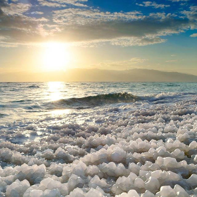 #Sunrise at Dead Sea in #Israel.