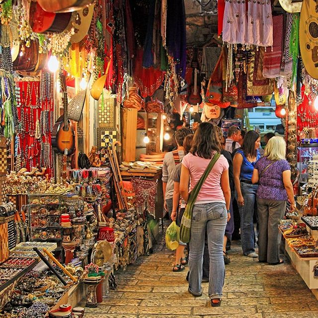 Oriental market in #Jerusalem offers variety of Middle Eastern products and souvenirs.