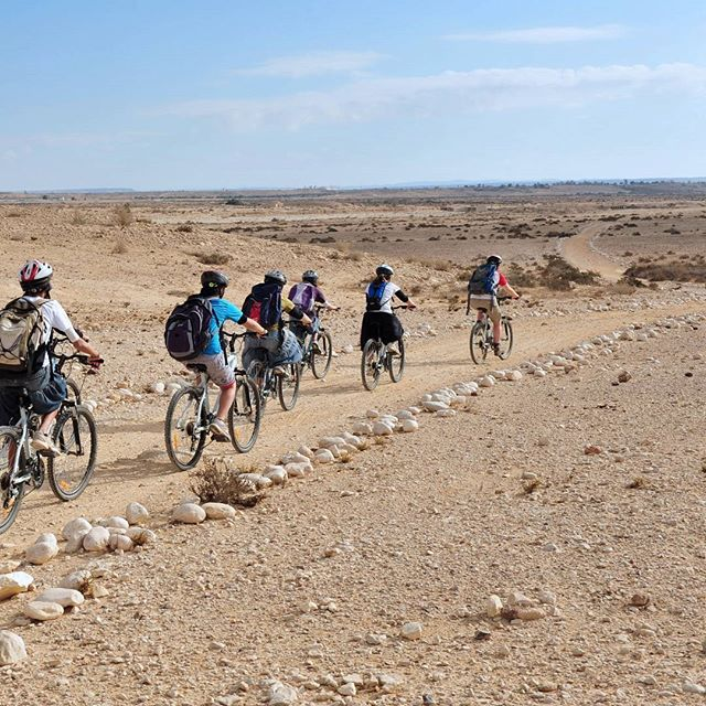 Cycling through the #NegevDesert. #BeautyofIsrael  Photo credit: ChameleonsEye