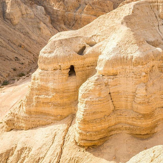 Cave in Qumran, where the dead sea scrolls were found in #Israel.