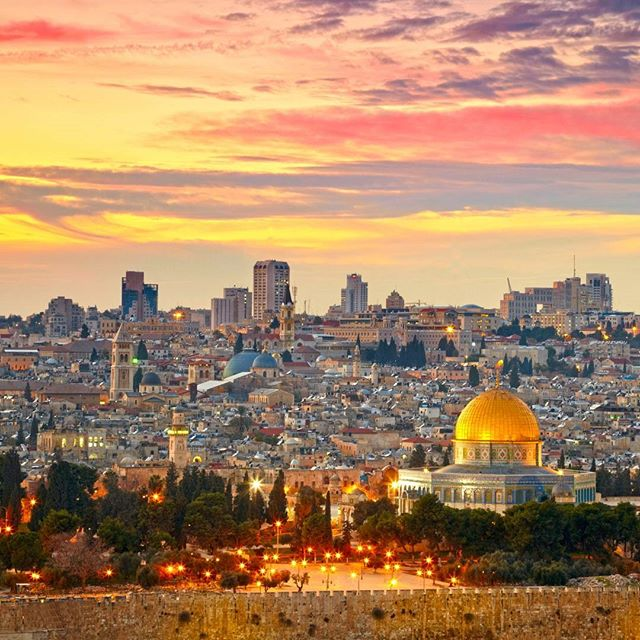 Stunning colorful skies over #Jerusalem