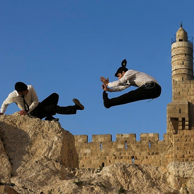 Spin-kick your way through Jerusalem! #Capoeira #SoaringSummer #FlyingHigh #ISRAEL21c  by #Flash90