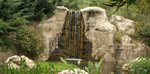Jerusalem Botanical Gardens waterfall