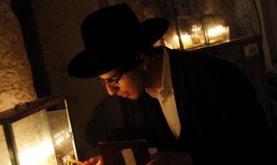 Jerusalem Chanukah candle lighting