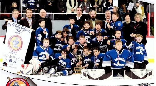 Pee Wee ice hockey team