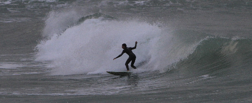 Surfing in Ashkelon