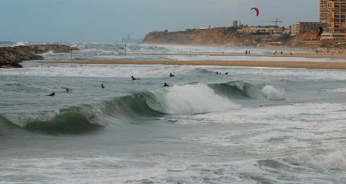 Surfing in Herzliya