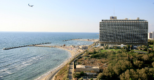 Surfing at Hilton Beach in Tel Aviv