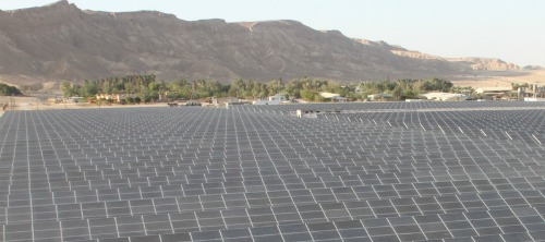 Arava Power solar field on Kibbutz Ketura