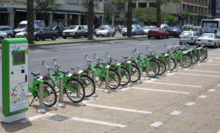Tel Aviv bike rental station