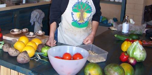 raw-food cuisine at Essene Farm