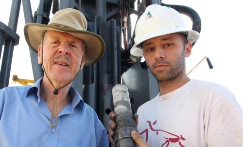 Dead Sea drilling team