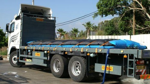 Sokol water pillow on truck