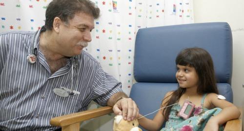 Prof. Moshe Phillip and patient