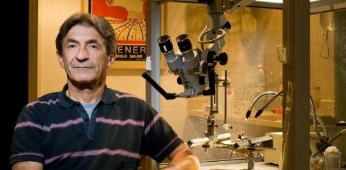 Prof. Matti Mintz in his lab
