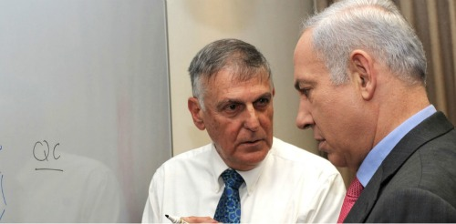 Danny Shechtman with Prime Minister Benjamin Netanyahu
