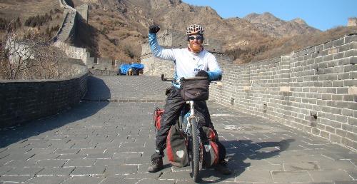 Roei Sadan at the Great Wall of China