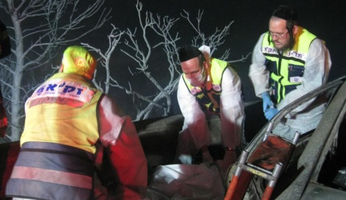 ZAKA rescue scene