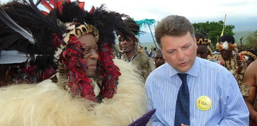 Zulu king and Dr. Inon Shenkar