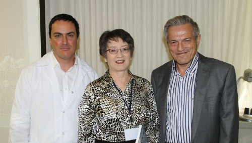 Israeli researchers and BioMed SA President Ann Stevens