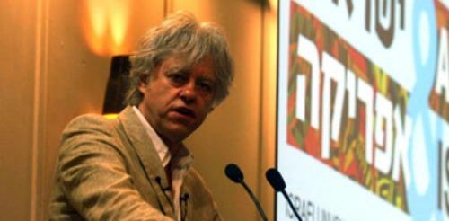 Bob Geldof at IsraAid conference on Africa