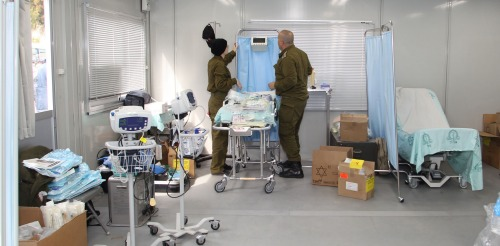 IDF field hospital in Japan