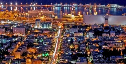 Wikimedia haifa at night