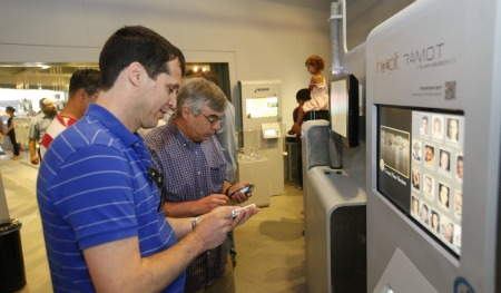 Checking out interactive tech for movies. Photo courtesy of Bloomfield Science Museum