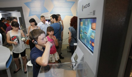 NDS VideoGuard enhances the viewing experience. Photo courtesy of Bloomfield Science Museum